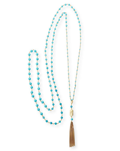 Rosarietto Beaded Tassel Necklace