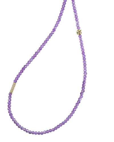 Icon Faceted Bead Station Necklace, 34
