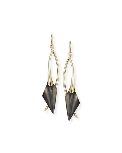 Elongated Wire Drop Earrings