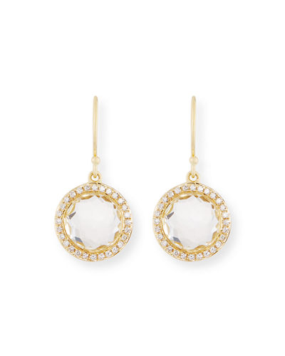 18k Mini Lollipop Earrings with Diamonds