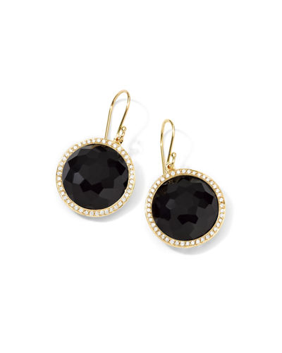 Gold Rock Candy Lollipop Diamond Earrings