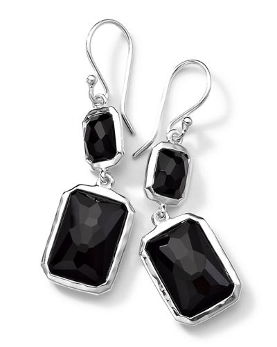 Sterling Silver Wonderland Rectangular Mini-Drop Earrings