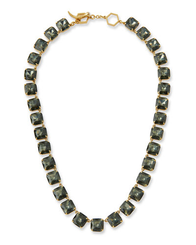 Faceted Crystal Short Necklace