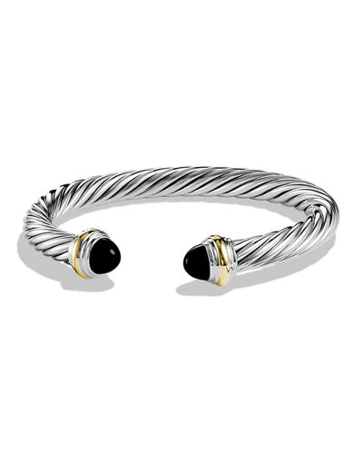 7mm Cable Classics Bracelet with Gold