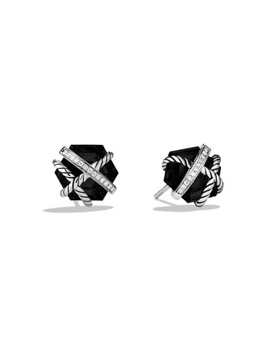 David Yurman Hex Cable Wrap Earrings with Diamonds
