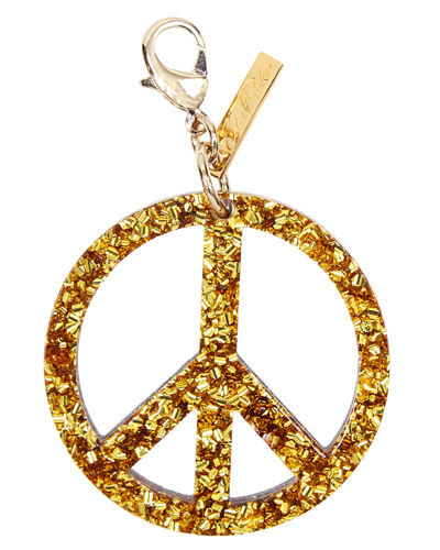 Peace Sign Speckled Bag Charm