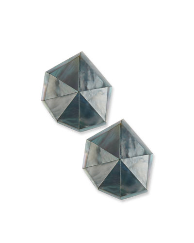 Star Dust Resin Earrings, Pierced