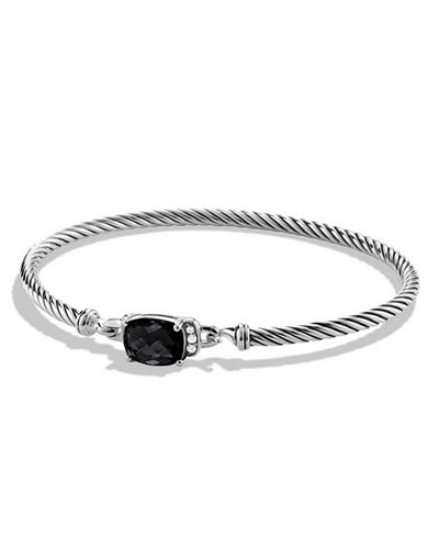 David Yurman Petite Wheaton Bracelet with Diamonds