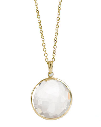 18k Gold Rock Candy Lollipop Pendant Necklace
