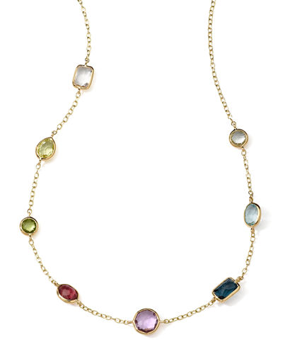 18k Gold Rock Candy Mini Gelato Station Necklace