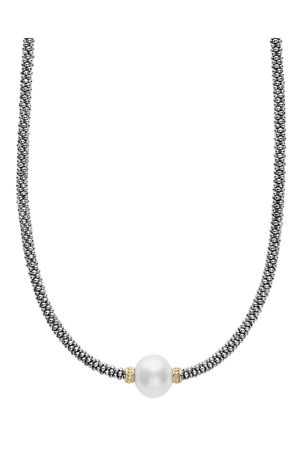 Lagos Luna Tahitian Pearl Rope Necklace, 16""