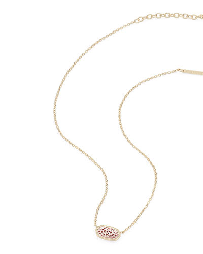 Kendra Scott Elisa Statement Necklace in Yellow Gold