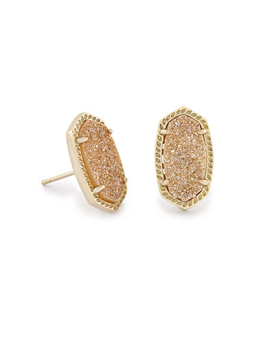 Kendra Scott Ellie Platinum Druzy Stud Earrings