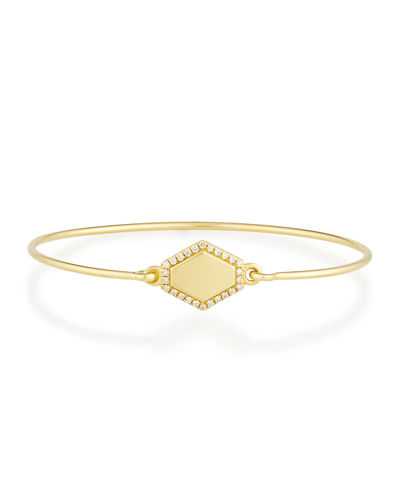 Personalized Prive Hexagon Bangle with Diamonds