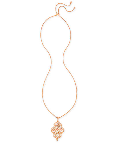 Kathy Latticework Pendant Necklace, 34
