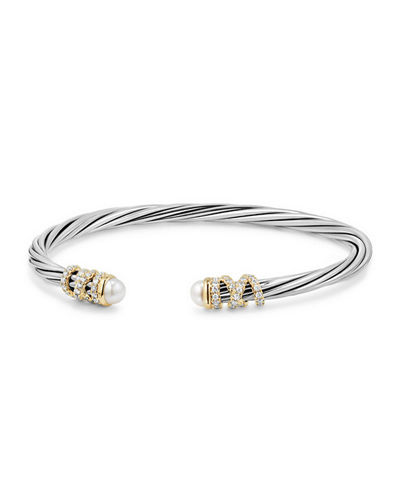 4mm Helena Cabochon Tip Bracelet with Diamonds
