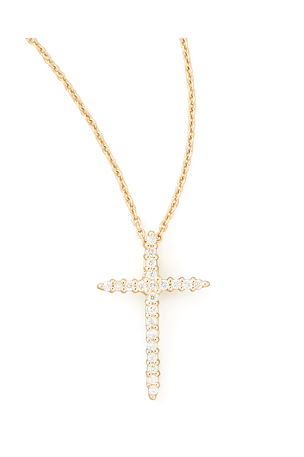 Roberto Coin Cross Necklace with Diamonds