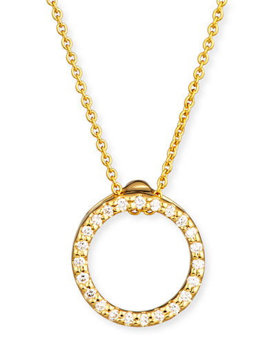 Tiny Treasure Circle of Life Necklace with Diamonds