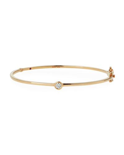 18k Gold Diamond Station Bangle