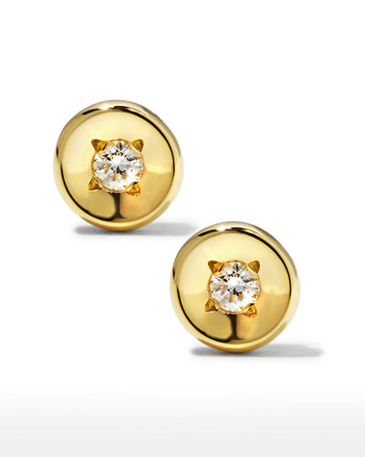 18k Rose Gold Diamond Solitaire Stud Earrings