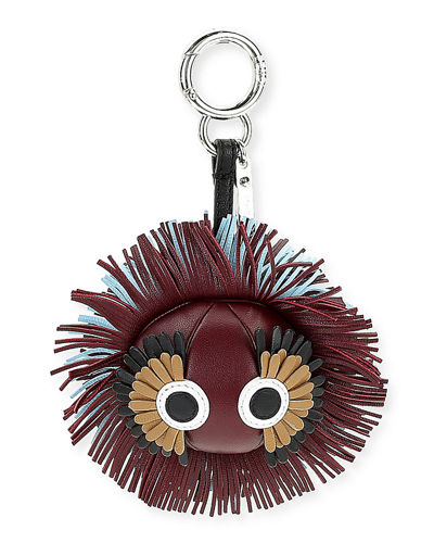 Fendi Faces Fringe Leather Charm