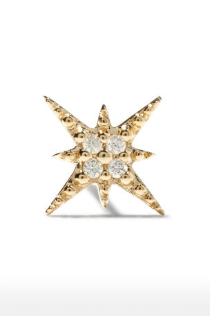 Sydney Evan Starburst Diamond Single Stud Earring