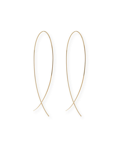 Large Upside Down Hoop Earrings in 14K Gold
