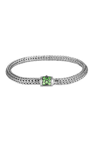 John Hardy Classic Chain Extra Small Pave-Clasp Bracelet