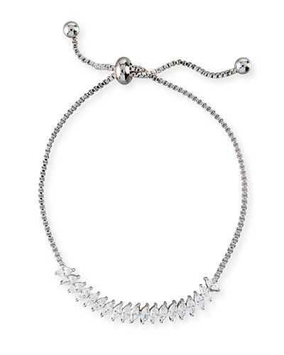 Toggle Jagged Edge Crystal Bracelet