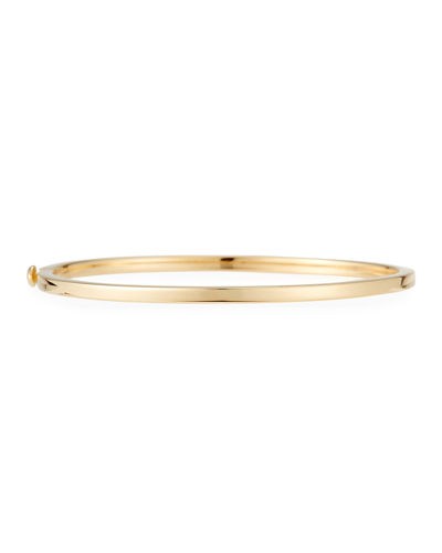 Hinged 18K Gold Bangle Bracelet