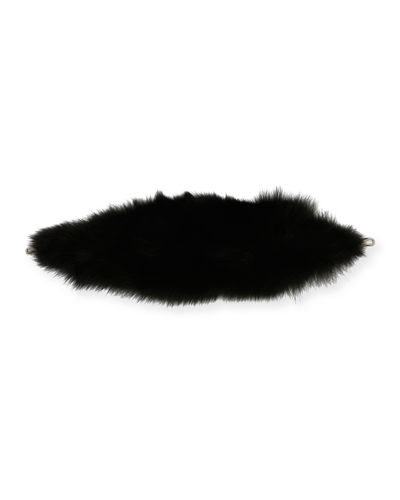 Bicolor Fox Fur Strap for Handbag