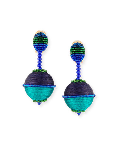 Beaded Drop Clip-On Earrings