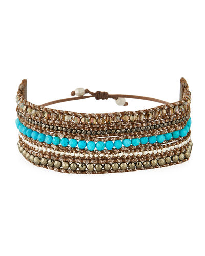 Beaded Multi-Row Cuff Bracelet