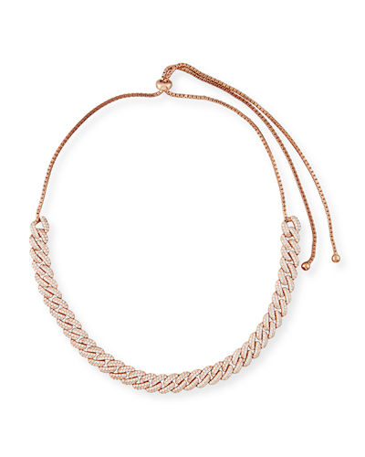 Fallon Armure Pavé Crystal Curb Chain Necklace