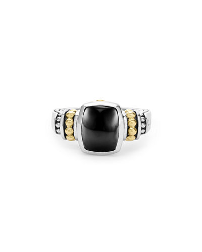 Caviar Color 10mm Onyx Ring, Size 7