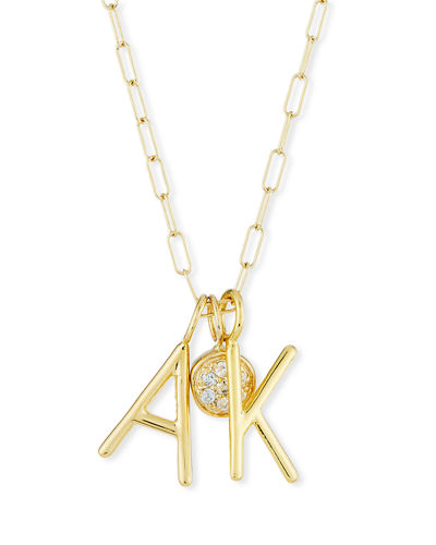 Amelia Layered Initial Necklace with Diamonds