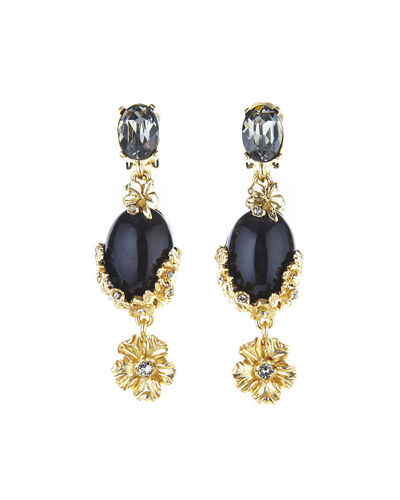 Bouquet Crystal Statement Drop Earrings