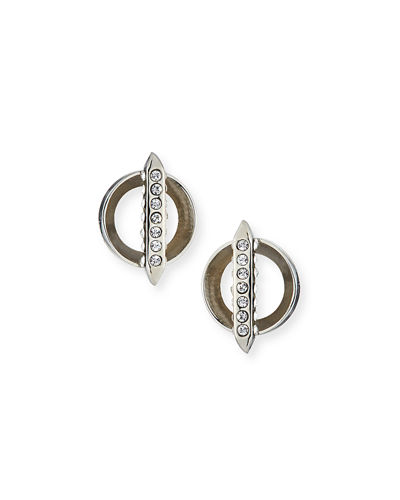 Mio Bar Stud Crystal Earrings