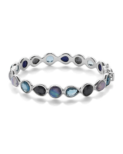 Silver Rock Candy All Around Hinged Bangle in Eclipse
