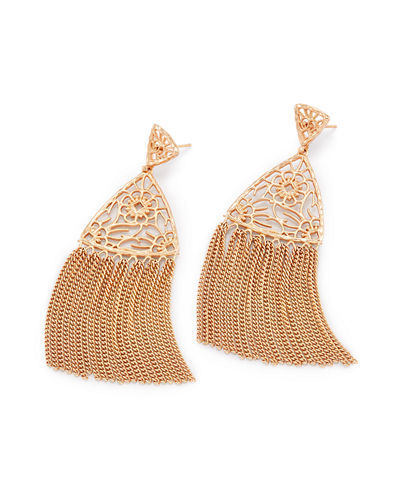 Ana Filigree Tassel Earrings