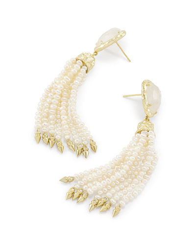 Blossom Pearly Tassel Earrings