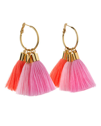 Triple Lily Tassel Earrings