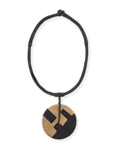 Leather Medallion Necklace