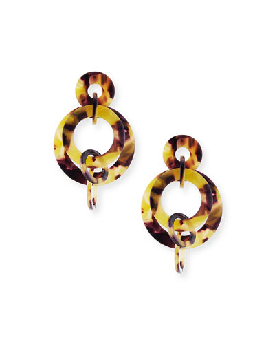 Tortoiseshell Acetate Hoop Earrings