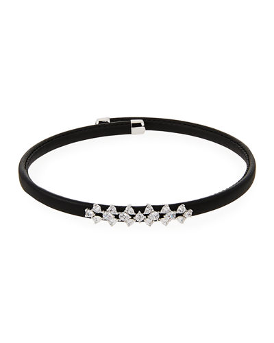 Monarch Leather Snap Choker Necklace