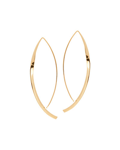 Small 14K Twist Arch Hoop Earrings