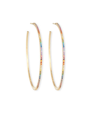 Large Hoop Earrings W/ Pavé by Tai