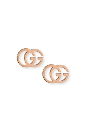 Gucci 18K Gold Running G Stud Earrings