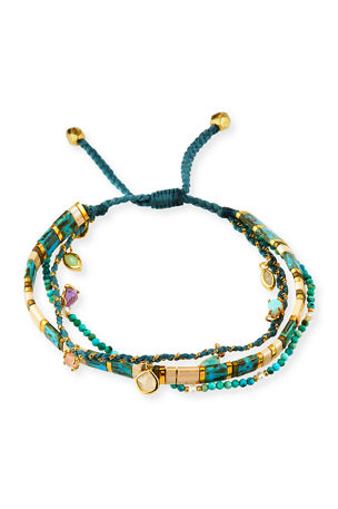 Tai 3-Row Adjustable Bead Bracelet