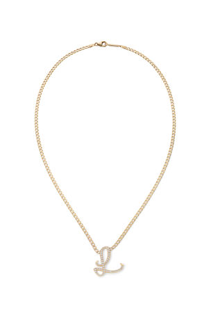 Lana 14k Malibu Diamond Initial Necklace